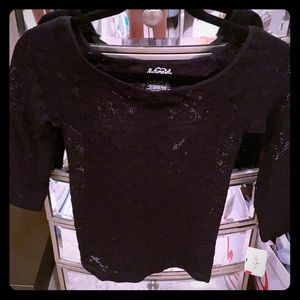 Free People see through black lace top